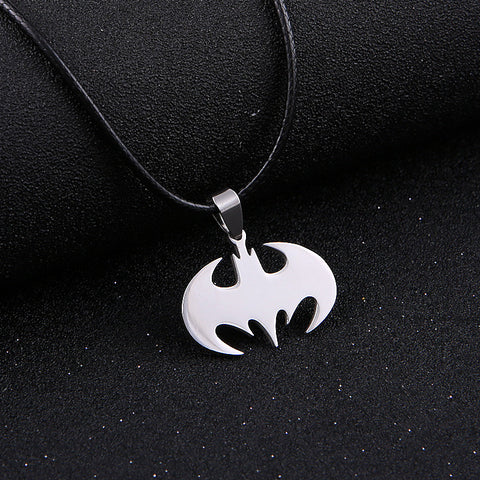 Fashion Silver chain Men Necklaces Jewelry Slippy Bat Batman Sign