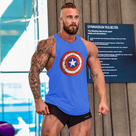 musculation vest bodybuilding clothing and fitness men undershirt  tank tops tops