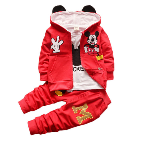 Kids  Boys/girls Clothing Set with Cotton Hooded Coat from 0-2years