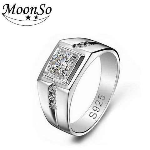 Sterling Silver Rings for Men Wedding/ Engagement Jewelry Ring