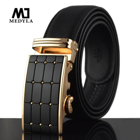 New arrival men automatic buckle brand designer leather belt  strap and luxury cummerbund