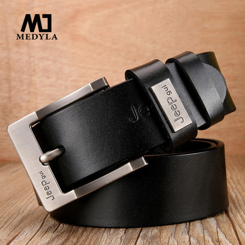 Men Ceinture Cowhide Genuine Leather Belts Men Pin Buckle Fancy Vintage Jeans Cowboy luxury Belt