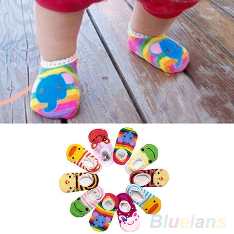 Cute Unisex Baby Kids  Anti-Slip Socks Shoes Slipper