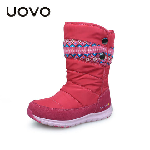 children oxford fabric kids boots girls winter shoes