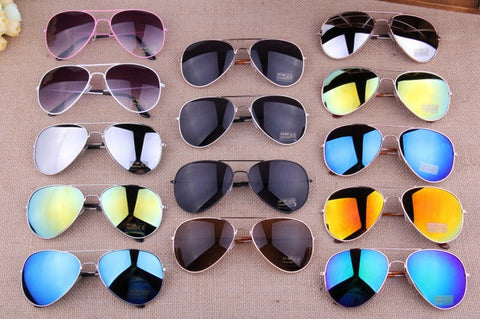MIX Colors Designer Blue Mirrored Sunglasses Men Silver Mirror Vintage Sunglasses Women Glasses Hot