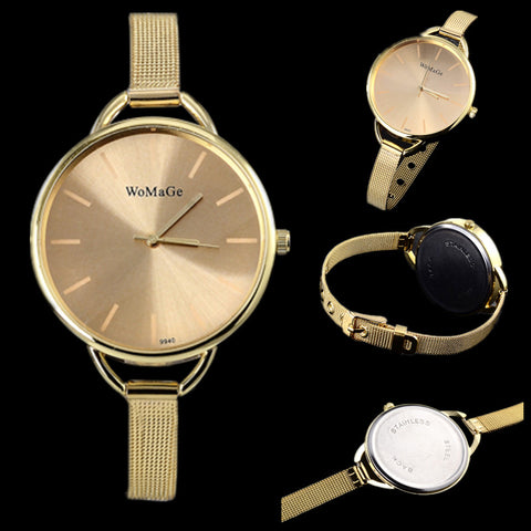 luxury brand watch women fashion gold watches ladies watch full steel clock