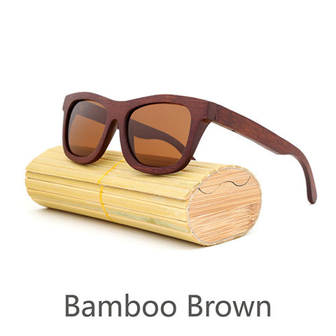 New fashion Products Men Women Glass Bamboo Sunglasses Vintage Wood Lens Wooden Frame Handmade