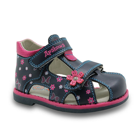 Girls PU Leather Sandals Butterfly with Arch Support
