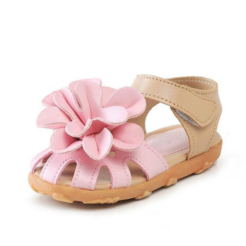 Cool Baby Girls Sandals Shoes Kids Flower Shoes PU Leather Size 21-30
