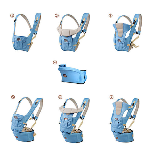 Baby carrier sling backpack bag gear with hipseat wrap newborn cover coat for babies stroller