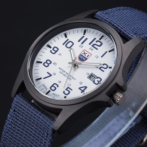 Fabulous mens army watches Stainless Steel Military Sports Analog Quartz Men watch