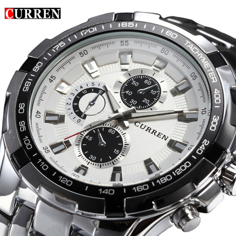 Luxury full stainless steel Watch Men Business Casual quartz  Military Wristwatch waterproof Relogio
