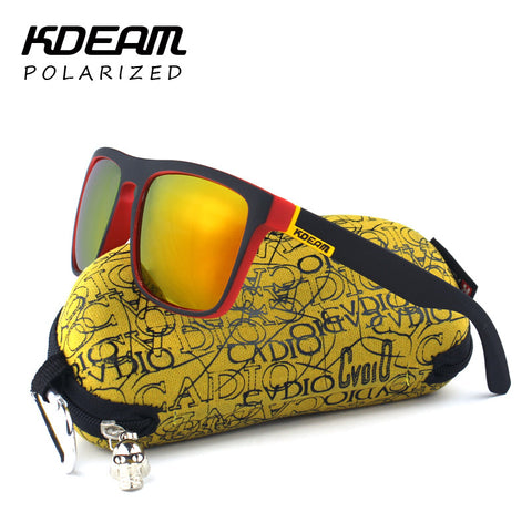 Polarized Sunglasses Men Surfing Sport Sun Glasses Women UV gafas de sol With Peanut Case