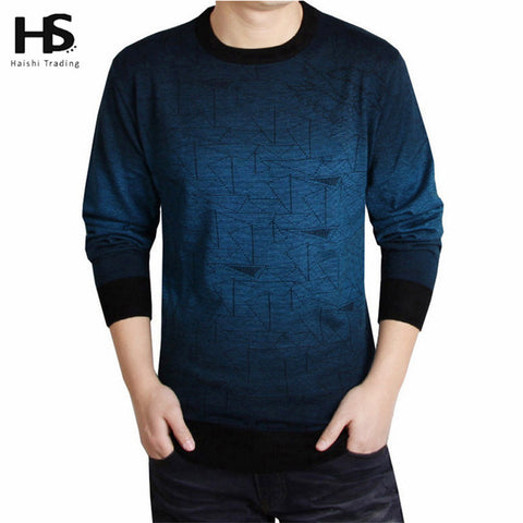 High Quality New 2017 Autumn Winter  Knitted Sweater Men Clothing Brand Casual  Wool Pullover O-Neck
