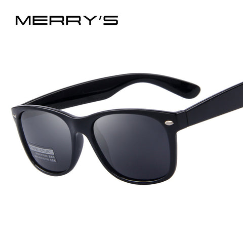 MERRY'S Men Polarized Sunglasses Classic Men Retro Rivet Shades Brand Designer Sun glasses