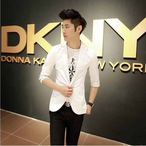 New Arrival Fashion Wild Korean Candy Color Stylish Slim Fit Men's Suit Jacket Casual Blazers