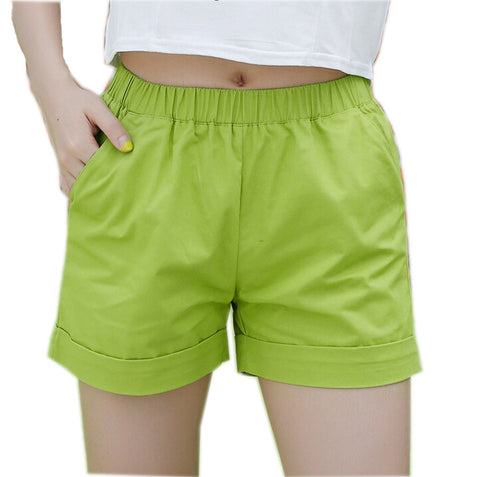 Candy color women shorts casual style ladies shorts hot sale plus size cotton female shorts