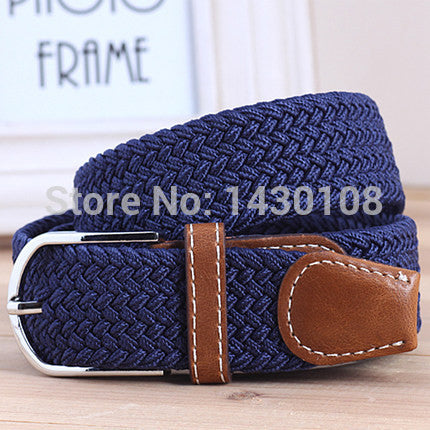 Men's Casual Belts Elastic luxury belt gentleman Canvas jeans sports Outdoor designer shirts belts