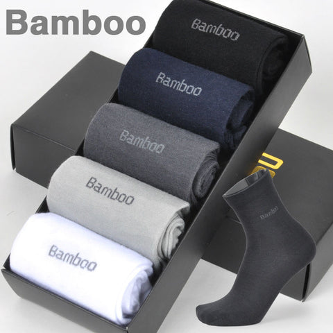 Bamboo Fiber Socks High Quality Casual Breatheable Anti-Bacterial  Men Long Sock