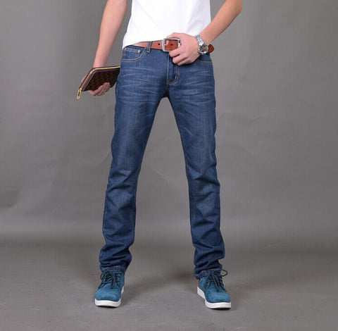 New Arrival  Jeans For Men Regular Fit Denim Jeans Pants Classic Blue Colour