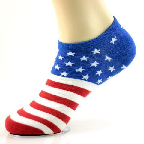 Men Sock  comfortable Cotton Flag pattern Men ankle socks calcetines hombre 10 countries flag design