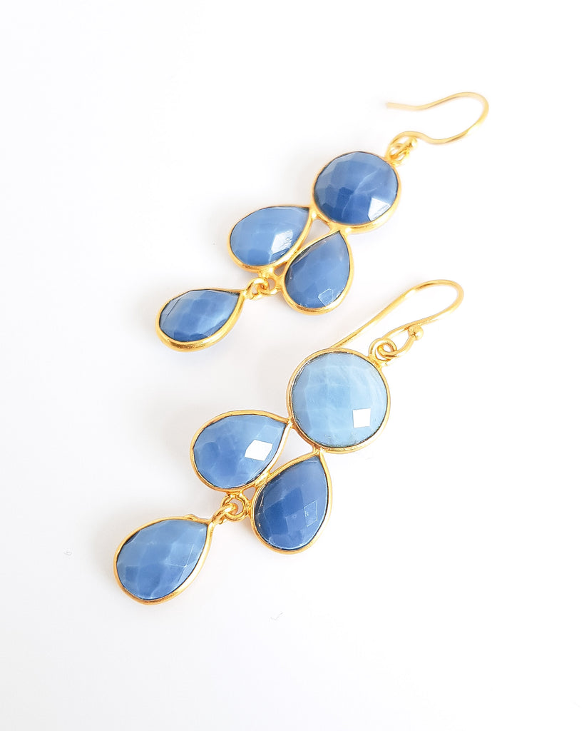Danielle Blue Opal Earrings