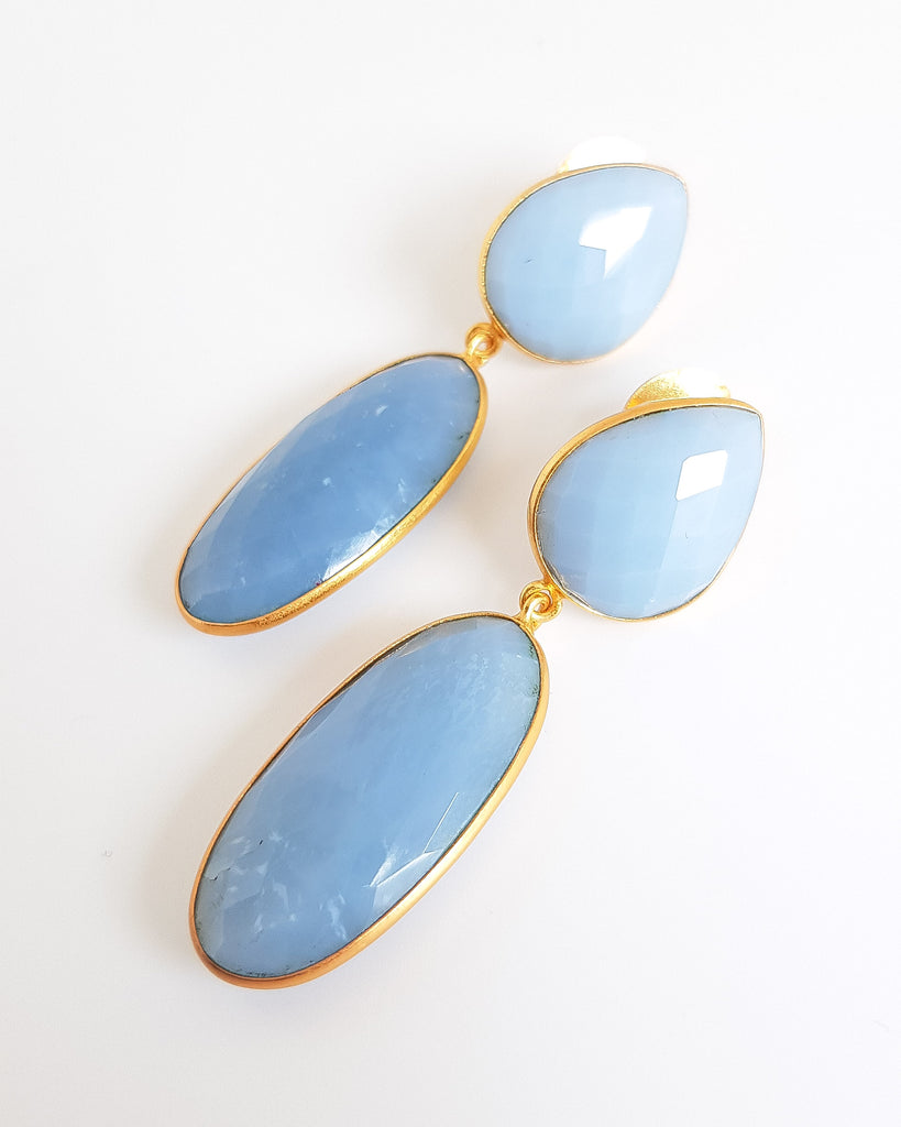 Larissa Blue Opal Earrings