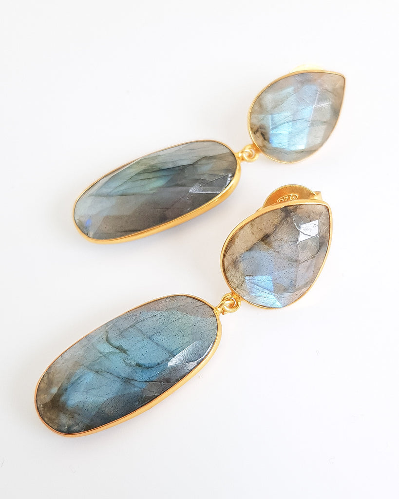 Larissa Labradorite Earrings