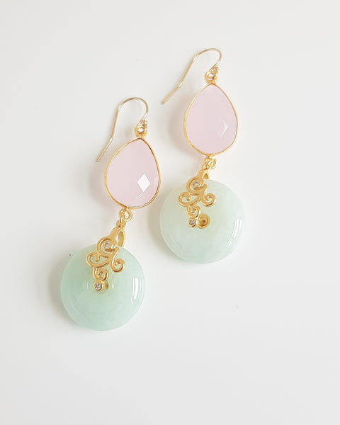 Jacey Rose Quartz Earrings