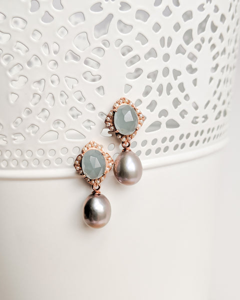 Sigrid Earrings in aquamarine