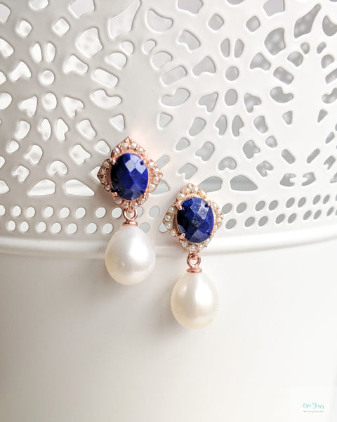 Sigrid Earrings in Lapis Lazuli