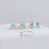 RG Paraiba tourmaline diamond halo earrings