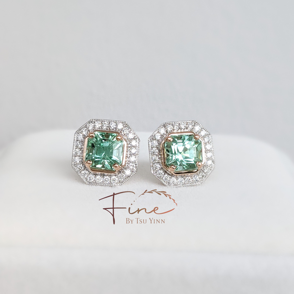 Audrey Earrings in Mint Green Tourmaline