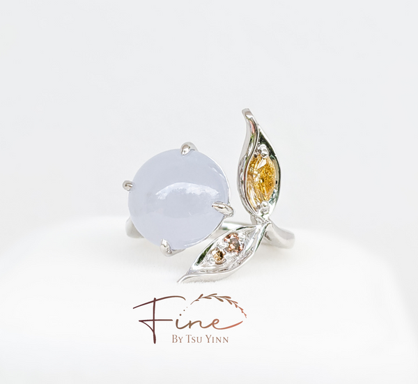 FBTY Rina Ring with Lavender Jadeite