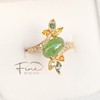 Jadeite Ring in Yellow Gold