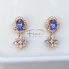 Sigrid Earrings in Tanzanites