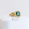 FBTY Flora Ring - with green tourmaline, green sapphires and diamonds
