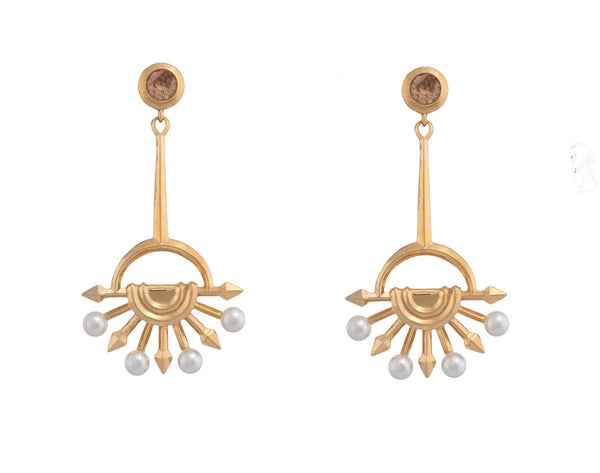 Anouke Earrings with topaz stone - Quella Collection