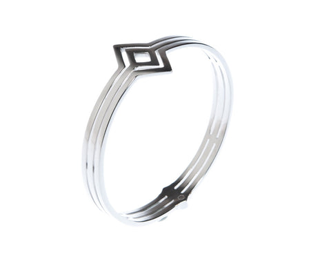 Fallon Bangle - Silver - Quella Collection
