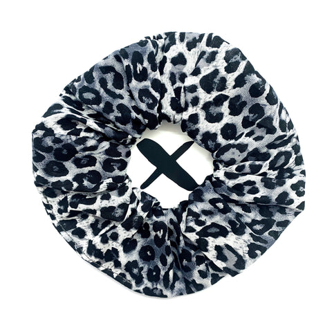 'GREY LEOPARD' Scrunchie