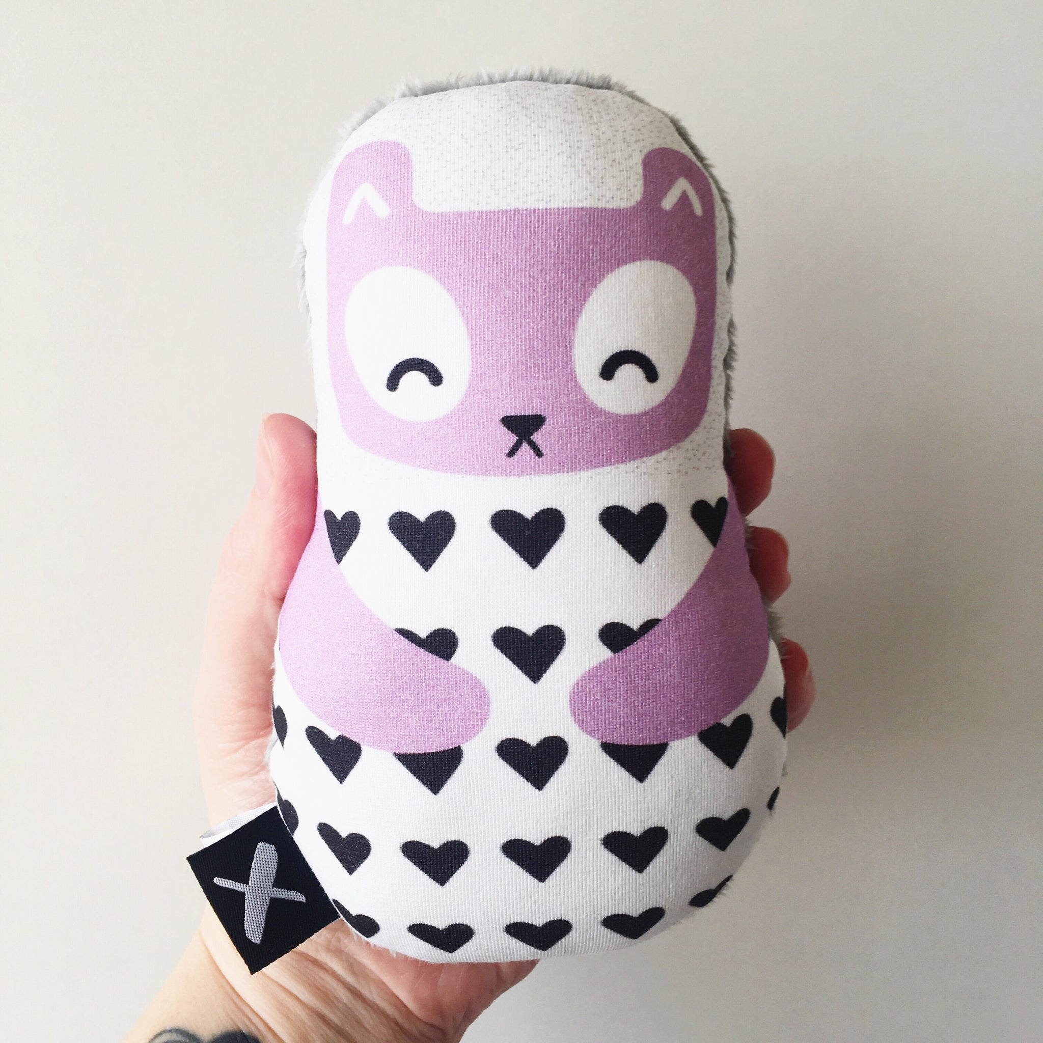 LILAC TED 'Baby Babushka' organic cotton rattle