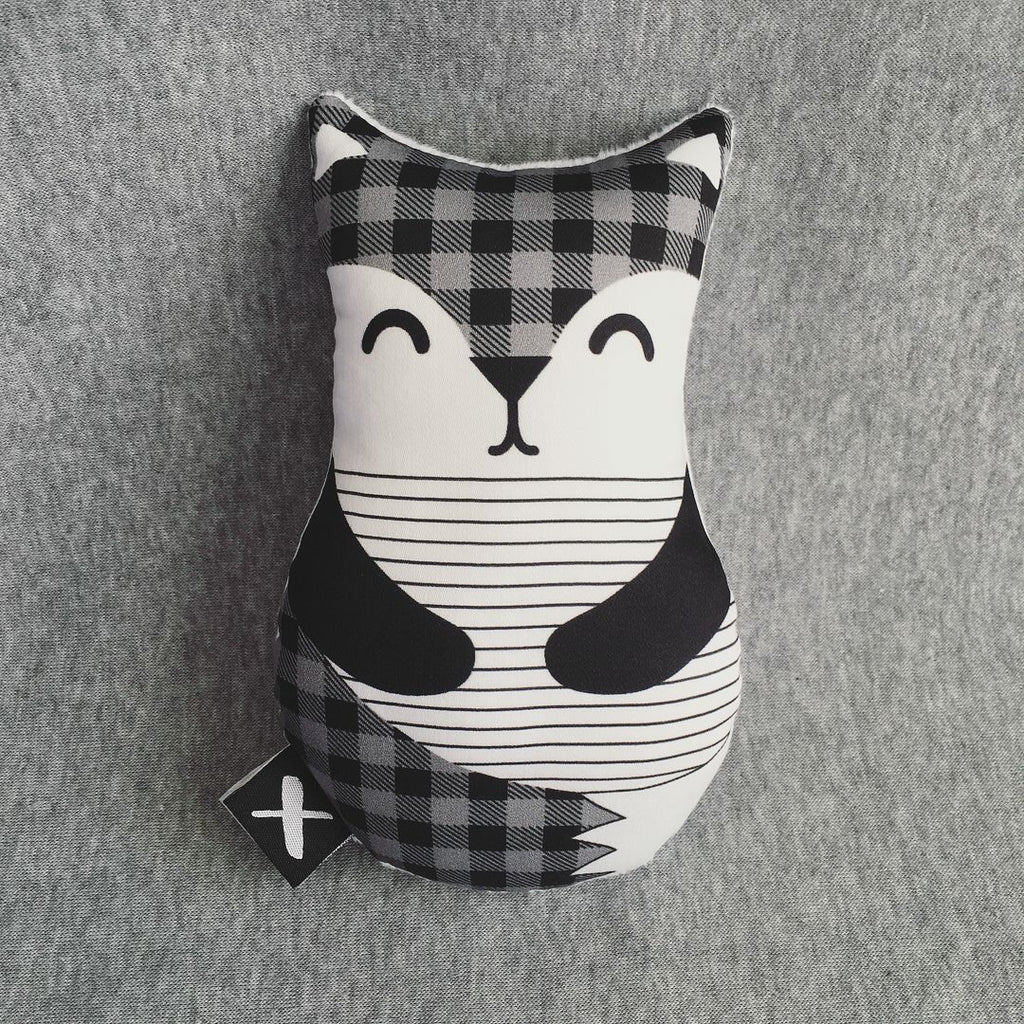 PLAID FOX 'Baby Babushka' organic cotton rattle