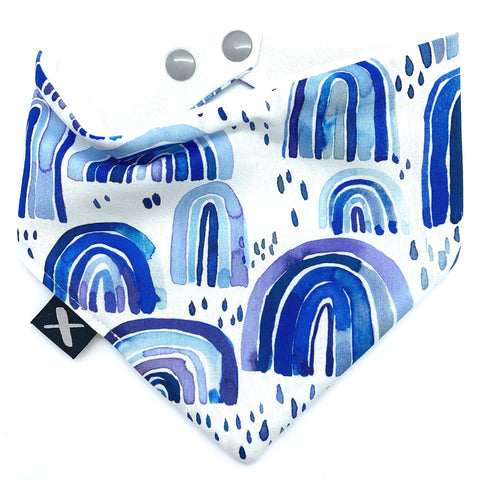 'BLUE RAINBOWS' Bandana Bib