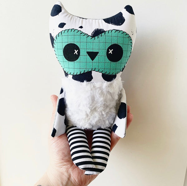 *NEW* ALFRED the Baby Owl Plushie (Polka Dots w/ Teal)