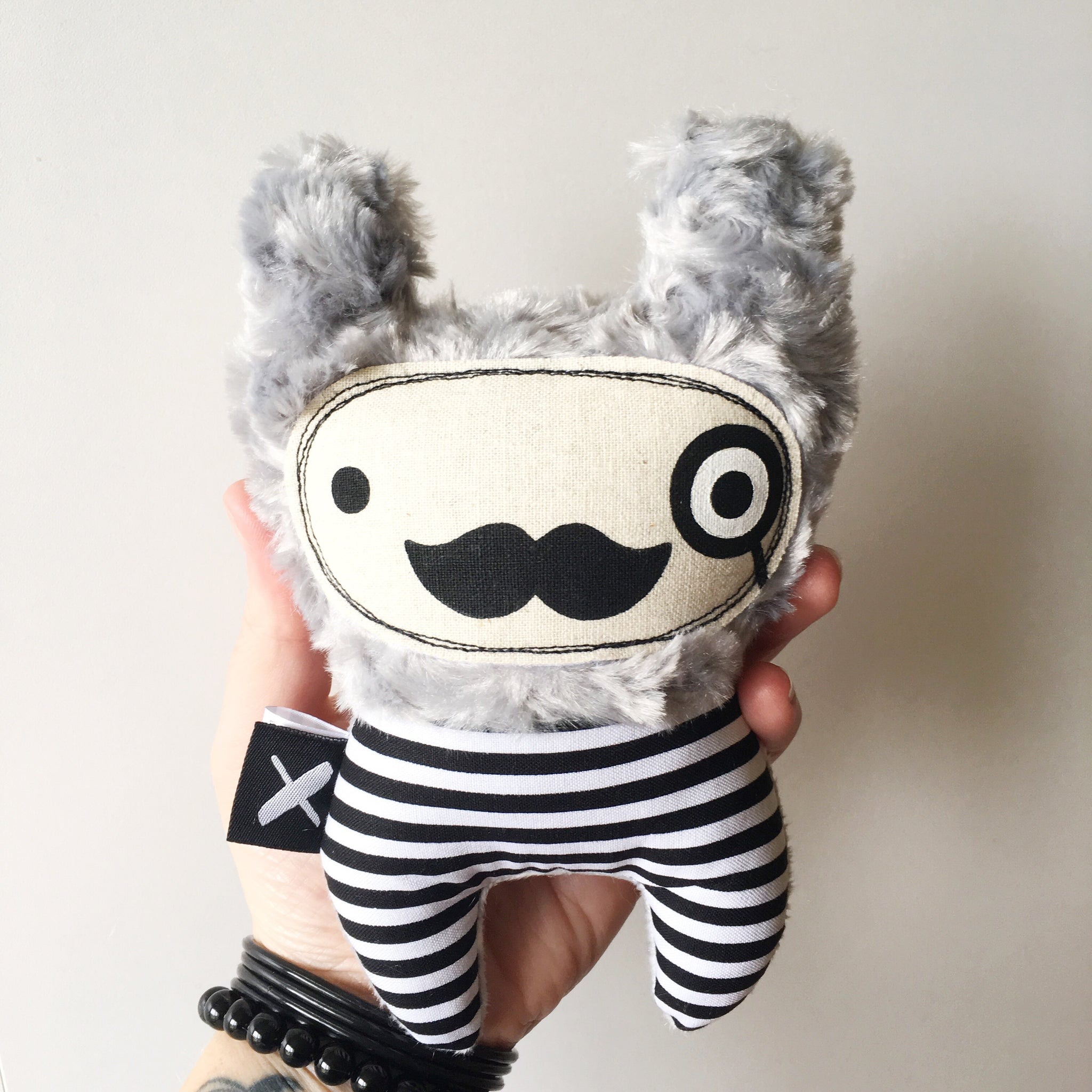 Mini Mista 'MOUSTACHIO' rattle