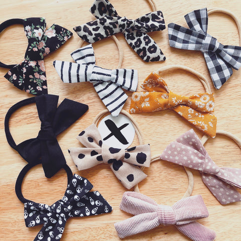 Fabric Baby Bows (only one of each!)