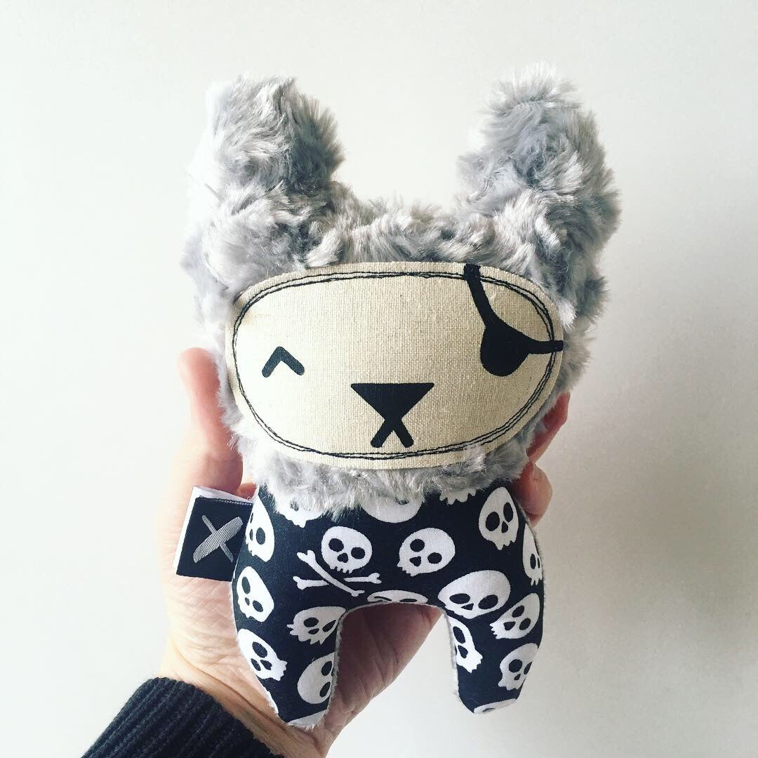 'PIRATE TED' Mini Mista rattle (custom minky colour!)