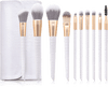 10-Piece White Ombre Makeup Brush Set Makeup Brush Iconix