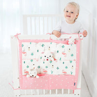 9 Pockets Cotton Cot Organiser Kids Iconix Pink