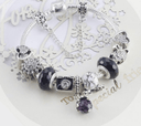 Charming Black and Silver colour bracelet with Heart themed charms Jewellery & Watches Iconix